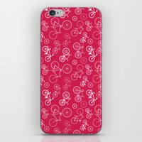 bicycles iPhone & iPod Skins featuring Bicycles by Kippy