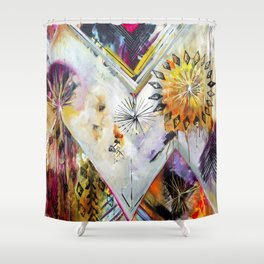 """Burn Bright"" Original Painting by Flora Bowley Shower Curtain"