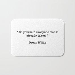Oscar Wilde Quote Bath Mat
