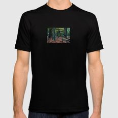 Forest Fence MEDIUM Mens Fitted Tee Black