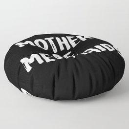 Mother of Mermaids (White on Dark Bkgrnd) Floor Pillow