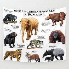 Endangered Animals of Sumatra Wall Tapestry