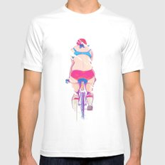 Ride In The Fog White Mens Fitted Tee MEDIUM