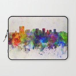 Richmond skyline in watercolor background Laptop Sleeve