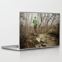 skateboard Laptop & iPad Skins featuring Skateboard Stroll by Kimberley Britt