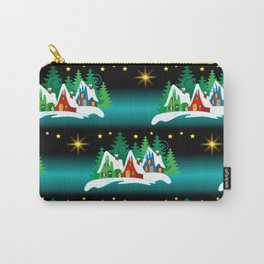 Christmas Village Home for the Holidays  Carry-All Pouch