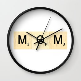 MOM - Mother's Day Scrabble Art Wall Clock