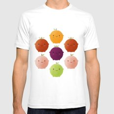 Cutie Fruity (Watercolour) SMALL White Mens Fitted Tee