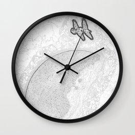 """""""Raven Moon 2"""" by Murray Bolesta! Wall Clock"""