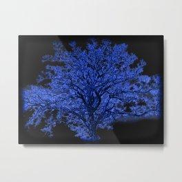 Blue Tree A182 Metal Print