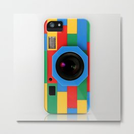 classic retro full color rubik cube camera iPhone 4 4s 5 5s 5c, ipod, ipad, pillow case and tshirt Metal Print