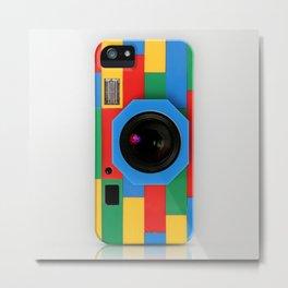 classic retro full color rubik cube camera iPhone 4 4s 5 5s 5c, ipod, ipad, pillow case and tshirt Metal Print
