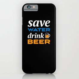 I WISH YOU WERE BEER - FUNNY BEER SHIRT iPhone Case