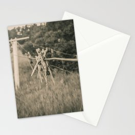 Clothespins on the Line, North Dakota 2 Stationery Cards
