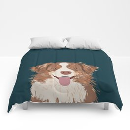 Hollis - Australian Shepherd gifts for dog owners pet lovers dog people gifts for dog person Comforters