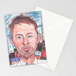 Thom Yorke Radiohead Hail to The Theif Stationery Cards