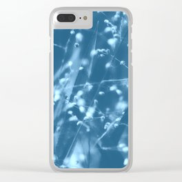 Blue Botanical Clear iPhone Case
