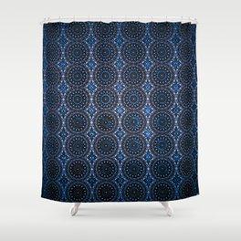 INSIDEOUT/Dark Blue Shower Curtain