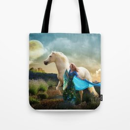 Lady in Blue - Spirit Connection Tote Bag