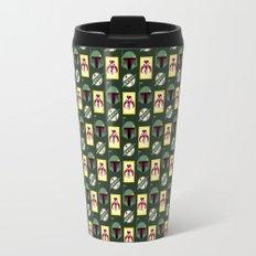 Boba Fett Mandalorian Symbols on Green Travel Mug