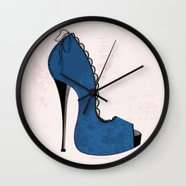 Give a Girl the Right Shoes, and She Can Conquer the World Wall Clock