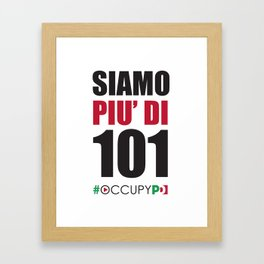 +101 Framed Art Print