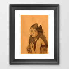 Tribal Girl Framed Art Print