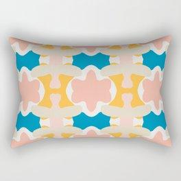Pastel Colors Blossom Pattern Rectangular Pillow