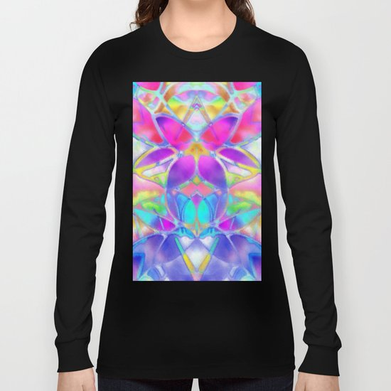 Floral Fractal Art G307 Long Sleeve T-shirt
