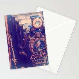Preserving the Past a digital photograph of a vintage folding camera Stationery Cards