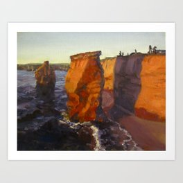 Deep Orange Art Print