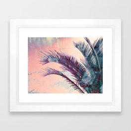 Candy Palms Framed Art Print