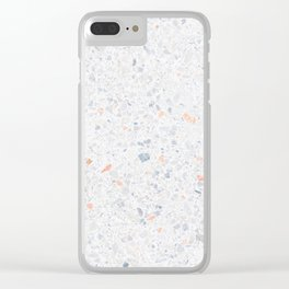 Natural Terrazzo Stone Stucture Pattern Pastel Clear iPhone Case