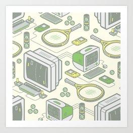 Virtual Tennis Art Print