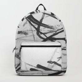 wild black strokes Backpack