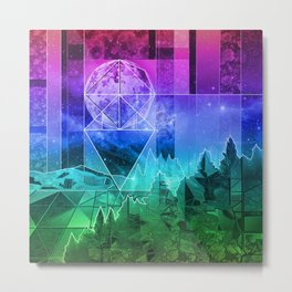 night forest 3 Metal Print