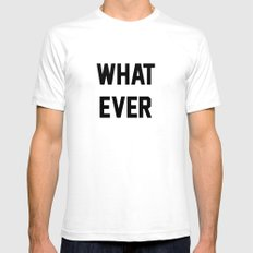 Whatever White SMALL Mens Fitted Tee
