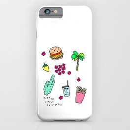 Dear My Lovely California - Burger Cactus Palm Tree Tropical Pattern iPhone Case
