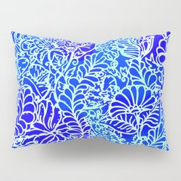 Jungle Garden, Blue Pillow Sham