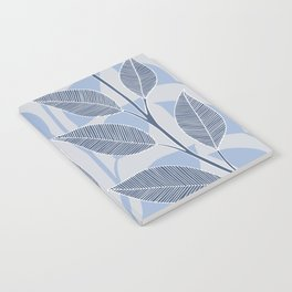 Leaves in blue Notebook
