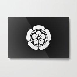 Oda Clan · White Mon Metal Print