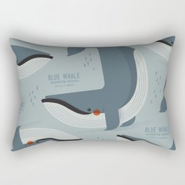 Blue Whale, Antartica Wildlife Rectangular Pillow