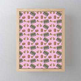 fast food pink Framed Mini Art Print