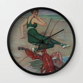 Vintage Lobster Guitar Serenade Illustration (1914) Wall Clock