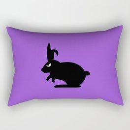 Angry Animals: Bunny Rectangular Pillow