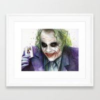 the joker Framed Art Prints featuring Joker  by Olechka