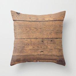 Wooden pattern Throw Pillow