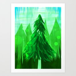 Tall Greens Art Print