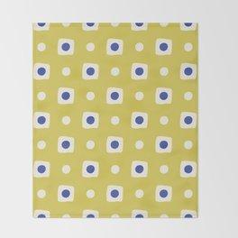 Mid Century Square Dot Pattern 8 Throw Blanket
