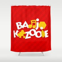 banjo Shower Curtains featuring Banjo-Kazooie - Red by Byway
